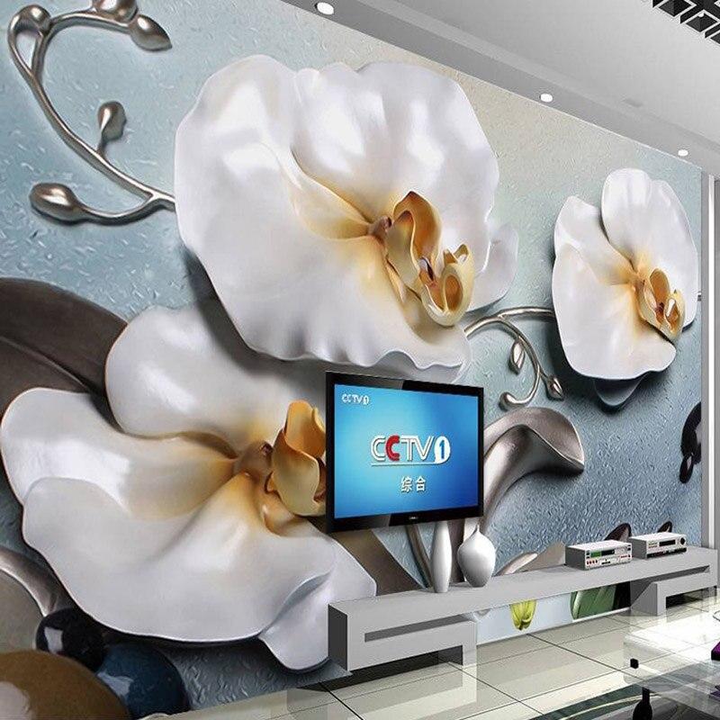 2019 Nieuwe Stijl Custom Muurschilderingen Behang 3d Stereo Relief Mot Orchidee Fotowand Doek Woonkamer Tv Sofa Thuis Decor Klassieke 3d Papel De Parede Met De Nieuwste Apparatuur En Technieken