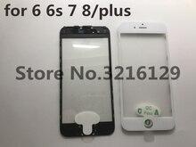 20 pcs koude pers 3 in 1 Front Screen Glas Met Frame OCA Voor iphone 5 5s 5c 6 6s 7 7g 8 8 p plus reparatie zwart wit Vervanging