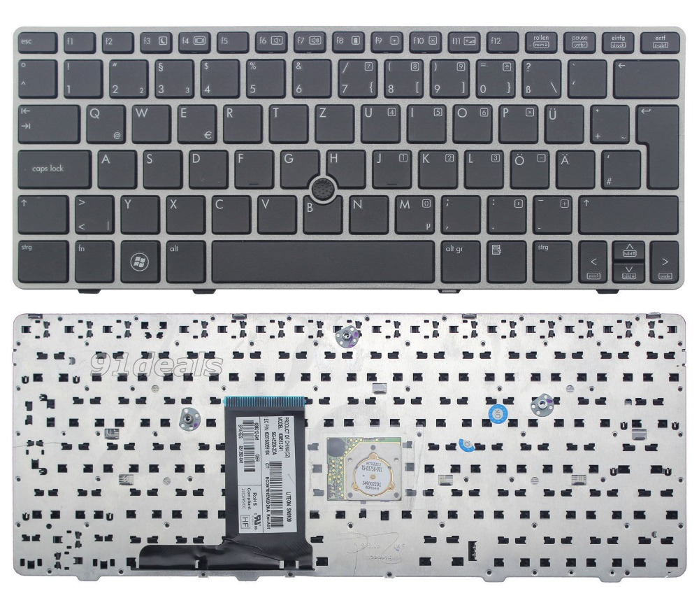 New Laptop keyboard for HP EliteBook 2560p 2570p Keyboard German Deutsch DE GR QWERTZ Frame laptop keyboard for acer silver without frame bulgaria bu v 121646ck2 bg aezqs100110