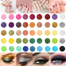 45pcs/Set Glitter Power Dust Manicure Decoration Nail Art DIY Eyeshadow Cosmetics Salon Acrylic UV Gel Extesnion