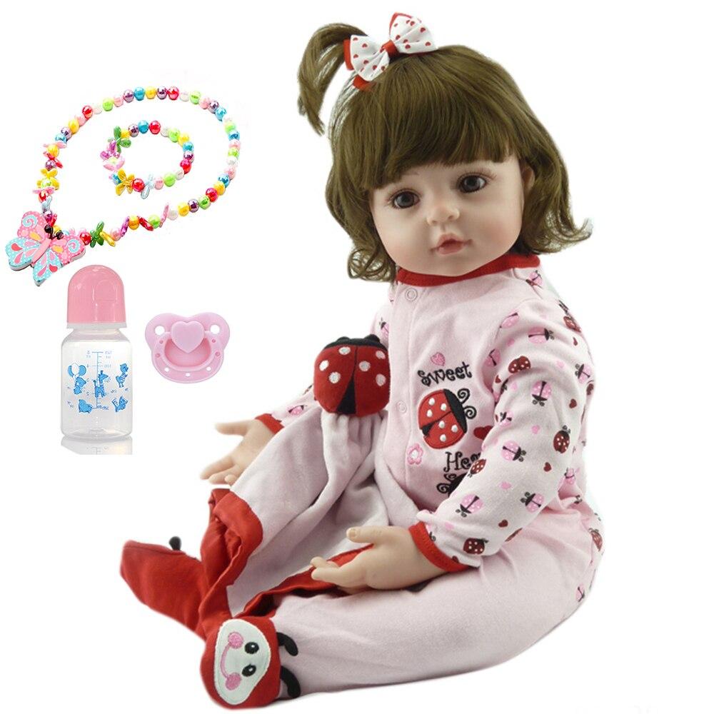NPK 58 cm grand reborn tollder poupée adorable réaliste nouveau-né bébé Bonecas Bebe enfant jouet fille silicone reborn bébé poupées cadeau