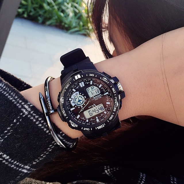 SANDA Fashion Women Sport Watches Luxury Brand LED Digital Quartz Watch Waterproof Outdoor Sport Watches For Women Wristwatch