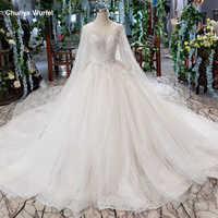 HTL487 prinzessin indische hochzeit kleider mit cape o-ansatz kappen-hülsen pailletten appliques brautkleider robe de mariée princesse