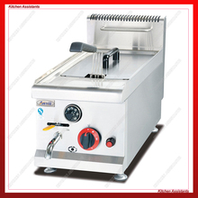 GF71A commercial counter top stainless steel potato big volume lpg gas chicken fryer deep machine with basket
