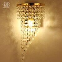 Estilo europeu Ouro/Prata Luz de Parede de Luxo de Alto Grau de Cristal K9 lâmpada de Parede Lâmpada de Cabeceira Fundo Decoração de Iluminação Do Hotel|luxury wall lights|wall lighthotel lighting -