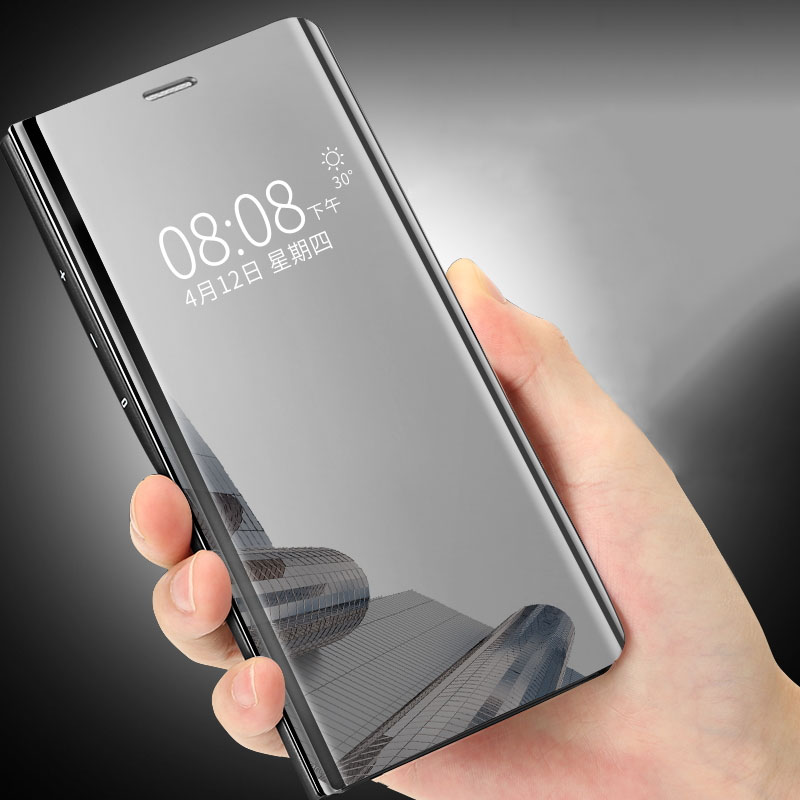 new arrival 3118b 3e5de Details about Luxury Slim Clear Plating HD Mirror Flip Phone Case Cover For  Huawei Mate Honor