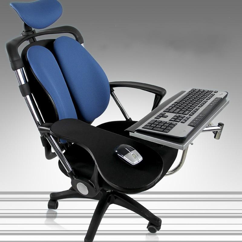 Multifonctionnel paresseux chaise ascenseur rotatif support ordinateur portable pliable support ordinateur bureau clavier plateau comprend tapis de souris