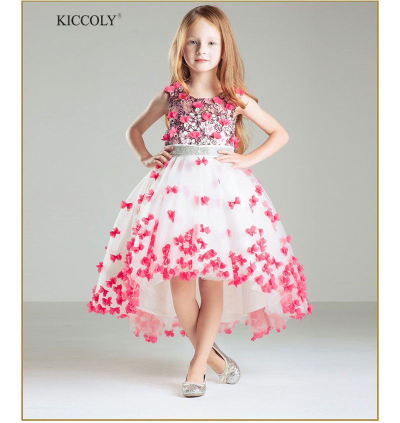 Brand Baby Girl Dress Children Flowe Dress For Girls 3-13 Year Birthday Outfits Dresses Evening Party Trailing Wedding Dress недорго, оригинальная цена