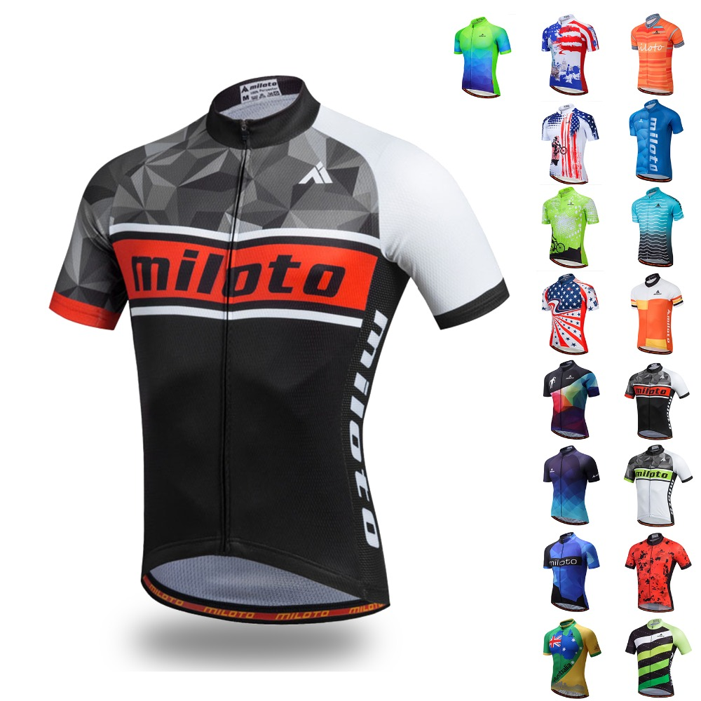 Top Quality Cycling Jersey Tops Summer Racing Cycling Clothing Ropa Ciclismo Short Sleeve Mtb Bike Jersey Shirt Maillot Ciclismo