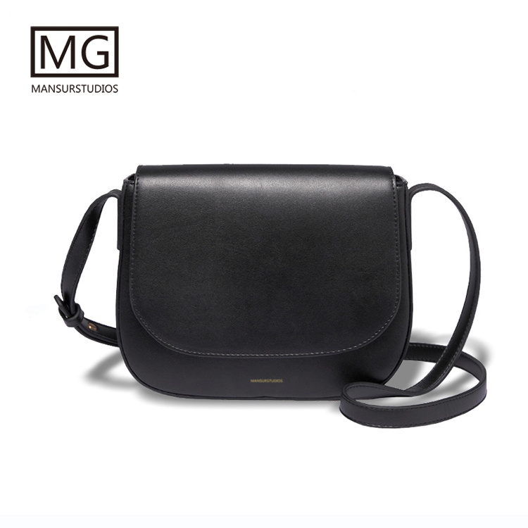 Mansurstudios Women Split Leather Saddle Bag, Mansur Lady Fashion Leather Shoulder Bags, Gavriel Crossbody Bag,free Shipping