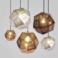 Pendent Light Etch Shade Pendant Lamp Modern Brass Pendant Lights Gold Silver Ball Lamp 22cm/32cm/47cm Pendent Light E27 lamps