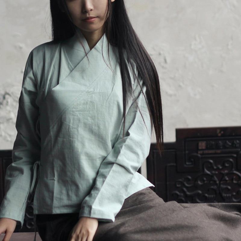Nagodo Hagyományos kínai póló 2018 Pamut kínai stílusú - Nemzeti ruhák