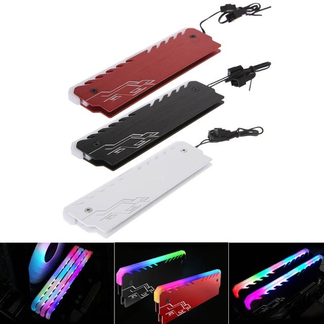 Aluminiowy Radiator chłodnicy RAM RGB 265 lekki Radiator pamięć stacjonarna kamizelka chłodząca cheap OPEN-SMART NONE CN (pochodzenie) Brak Aluminium