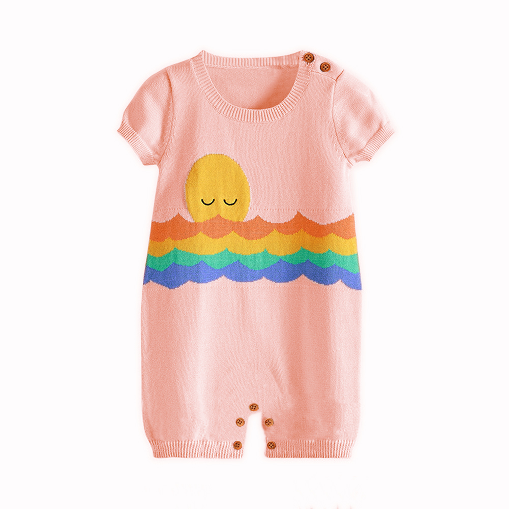 0-24M Toddler Girl Summer Rompers Clothes Cartoon Crochet Baby Boys Funny Overalls Casual Short Sleeves Newborn Bebe Jumpsuits