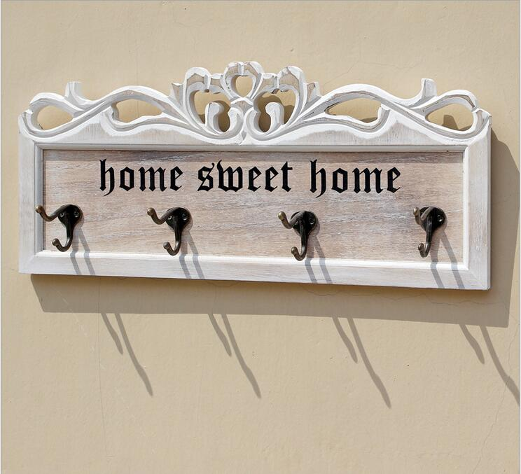 Solid Wooden Clothing Hanger with 4hooks Wall Hanger European Style Creative Heavy Duty Wall Hook Coat Hanger Store Decor|clothing hangers|hook coat hangers|coat wall hanger - title=