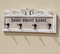 Solid Wooden Clothing Hanger with 4hooks Wall Hanger European Style Creative Heavy Duty Wall Hook Coat Hanger Store Decor