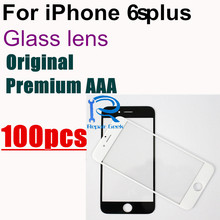 DHL 100PCS Original Premium AAA Front Glass Lens For iPhone 6S Plus 5.5 Inch Outer Glass Lens Replacement Part Black&White
