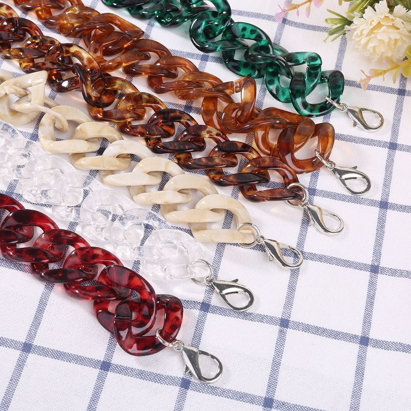 Fashion New 1 Pc Acrylic Bag DIY Craft Replacement Purse Chain Strap for Handle Shoulder Crossbody Handbag Bag Accessories