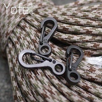 10 Pcs Equipment Survival EDC Paracord Carabiner Snap Mini SF Spring Clip Camping Hiking Hook Backpack Tactical Buckle Clip 1
