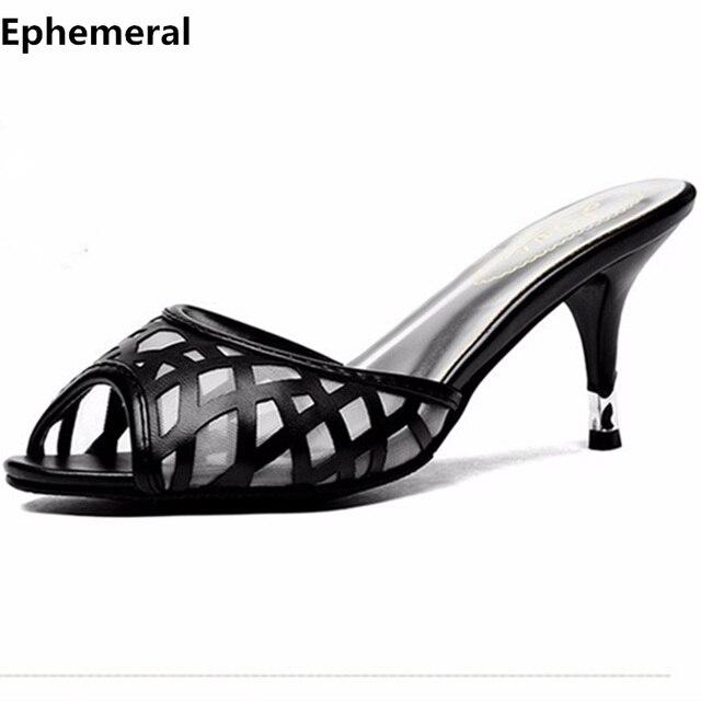 9a9b8e60ba62e US $19.78 14% OFF Dame Plus size EU42 MÄDCHEN DAME 43 Air Mesh Dünne High  Heels Sandale Sexy Sommer Peep Toe Schuhe Frauen Pumpen Folien high heels  ...