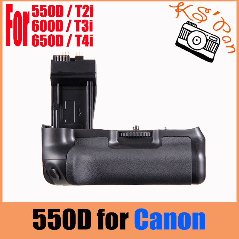 Vertical <font><b>Battery</b></font> <font><b>Grip</b></font> Pack For <font><b>Canon</b></font> EOS 550D 600D <font><b>650D</b></font> 700D T4i T3i T2i as BG-E8 image