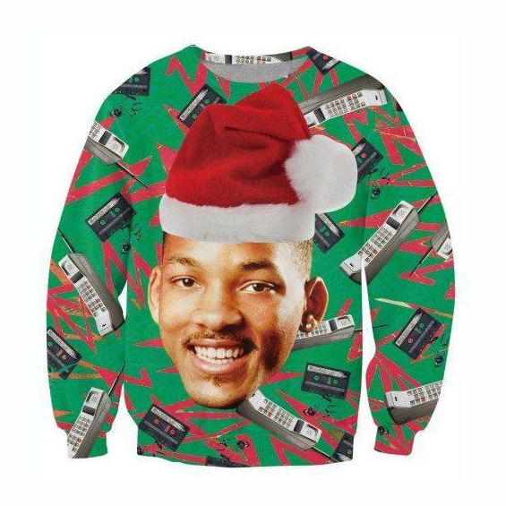 Raisevern Fashion Sweatshirt 3D Print Christmas Hoodie Carlton Banks/Sloth/Grumpy Cat With Christmas Hat Outerwear Tops Dropship 1