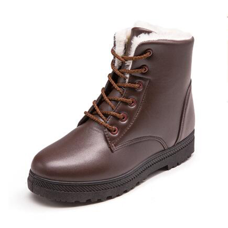 Women boots 2017 new arrivals warm winter shoes waterproof non-slip ankle boots fashion lace-up women snow boots new arrivals bandage shoes woman winter women boots fur plush lace up snow boots ankle boots
