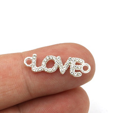 Connectors Crystal Bracelet-Accessories Findings Jewelry Making Diy Handmade Silver-Plated
