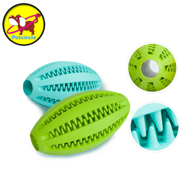 Petcircle New Pet Dog Toy Rubber Ball Pet Toys Puppy Chew Toys Tooth Cleaning Pet Balls Food for chihuahua 11cm freeshipping