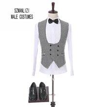 New Fashion Plaid Vest Men Formal Wedding Suit Vest Slim Fit Wedding Waistcoat Mens vest