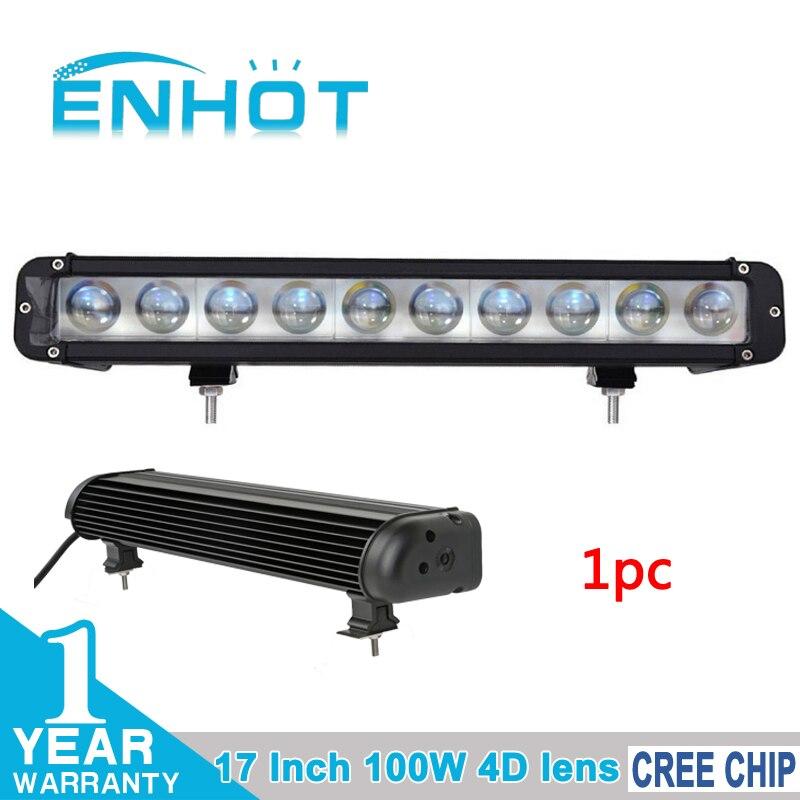 ENHOT 17 4D LENS 100W CREE LED CHIP LIGHT BAR LED DRIVING LIGHT SPOT FLOOD COMBO