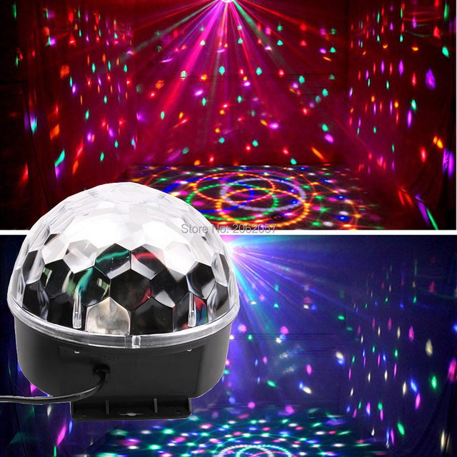 27w 9 Colors Led Disco Ball Light Dj Music For Christmas Party Lights Coloful Stage Effect Equipment Wedding Holiday