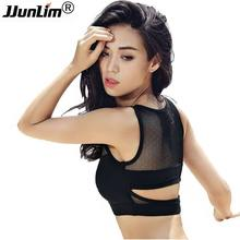JJunLiM 2017 New Sports Bra Running Top Sexy Mesh Yoga Bra Women Running Fitness Sports Bra Top clothes Shockproof Sportswear