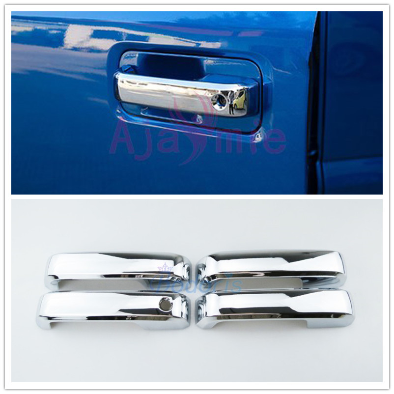 Car Styling Door Handle Cover Bowl Insert Trim Detector With Without Smart Hole Chrome 2015 2016 2017 For Ford <font><b>F150</b></font> <font><b>Accessories</b></font> image