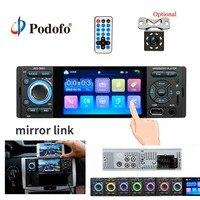 Podofo 4 Touch Screen Bluetooth Car Radio 1 Din Mirror Link Autoradio Stereo Audio MP5 Video Player USB MP3 TF JSD 3001 Radio