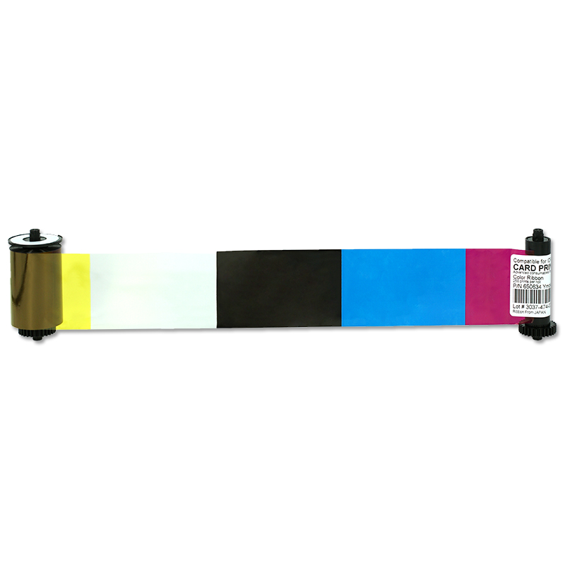 Printer Ribbon 650653 YMCKO 250prints Color Ribbon For IDP SMART 30S 30D 50S 50D 50L Card Printer idp smart 650664 siadc p r red ribbon use for smart id card printer ribbon
