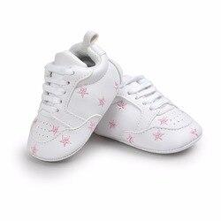 Популярная обувь для маленьких девочек с несколькими звездами; модная обувь для малышей на шнуровке для детей 0-18 месяцев