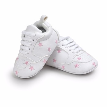 Hot Multiple Star Baby Girl Shoes first walkers Lace-up Fashion For 0-18 Months