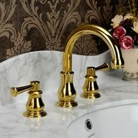 Antique Bronze Faucet three 8 inch basin European cold and hot water tap copper retro elegant bathroom cabinet