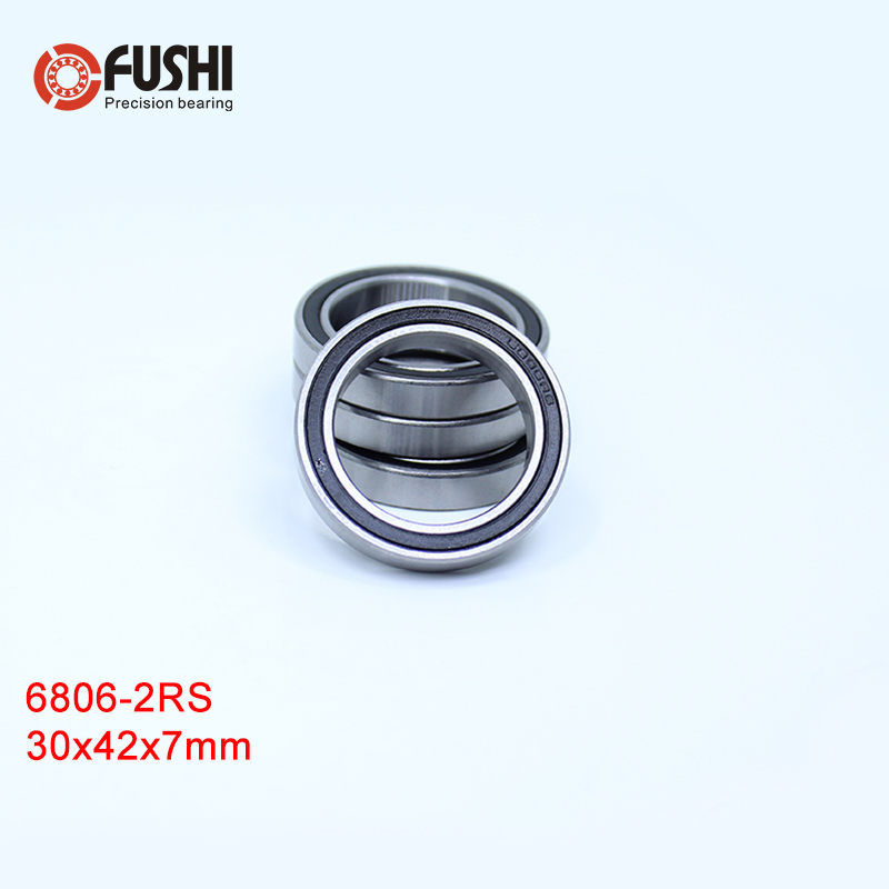 -2RS Bearing 10Pcs 30x42x7 mm ABEC-1 Thin Section 2RS Ball Bearings RS 61806 RS