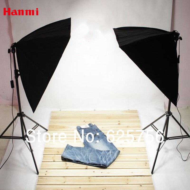 Photography Accessories Softbox Lighting Kit 2pcs 50x70cm Softboxes + 2pcs Light Stands Photo Studio Equipment Set Free Shipping 2250w photo studio continuous lighting 10x45w bulbs 50 70cm softboxes stands kit free shipping via dhl or ems