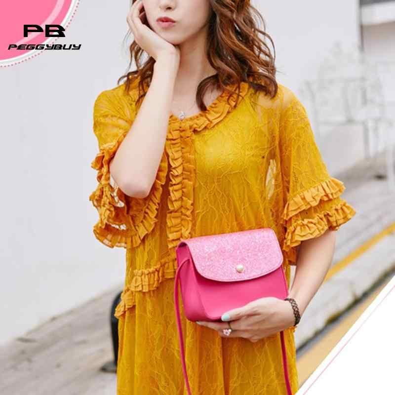 da53477a25 Women Fashion Shoulder Crossbody Handbags Teen Girls PU Leather Glitter  Small Messenger Bags Mini Female Travel Clutch Bag Totes