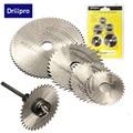 6 unids/set Mini HSS hoja de sierra Circular herramienta giratoria para Dremel cortador de Metal conjunto de herramientas eléctricas discos de corte de madera taladro mandril