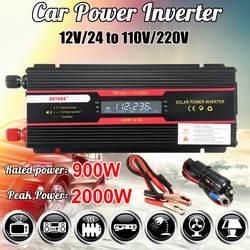 Автомобильный инвертор 12 В 220 В 2000 Вт P ЕАК Мощность инвертор Напряжение конвертер силового трансформатора 12 В/24 В до 110 В/220 В инверсор +