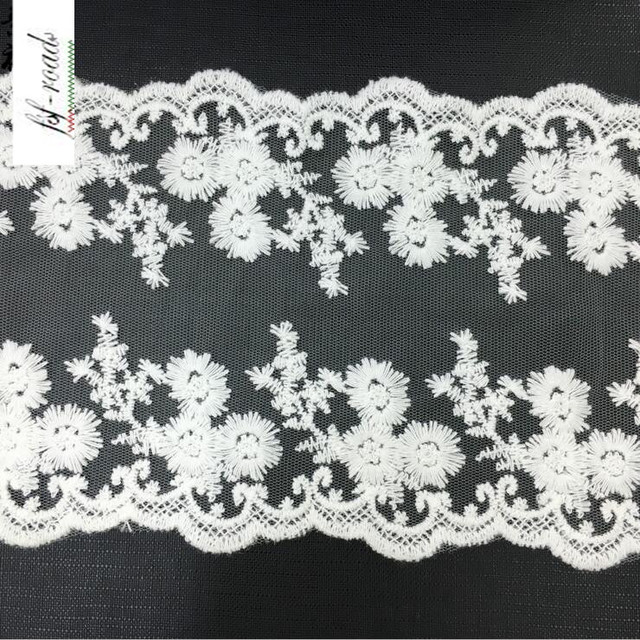 20 yards Cheap Off White Lace Trim Embroidered Fabric Trimming Lace Wedding  Decorative Accessories Net Lace