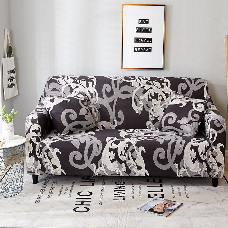 Spandex Elastic Sofa Cover Universal Slipcovers Protective L Shaped 2 Seater Stretch Furniture Couch Cover for Living Room Decor