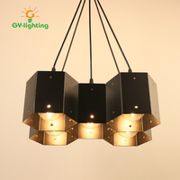 Loft Industrial DIY Honeycomb Pendant Lamp Chandelier Decor 1 3 4 5Heads Creative Pendant Lamp For