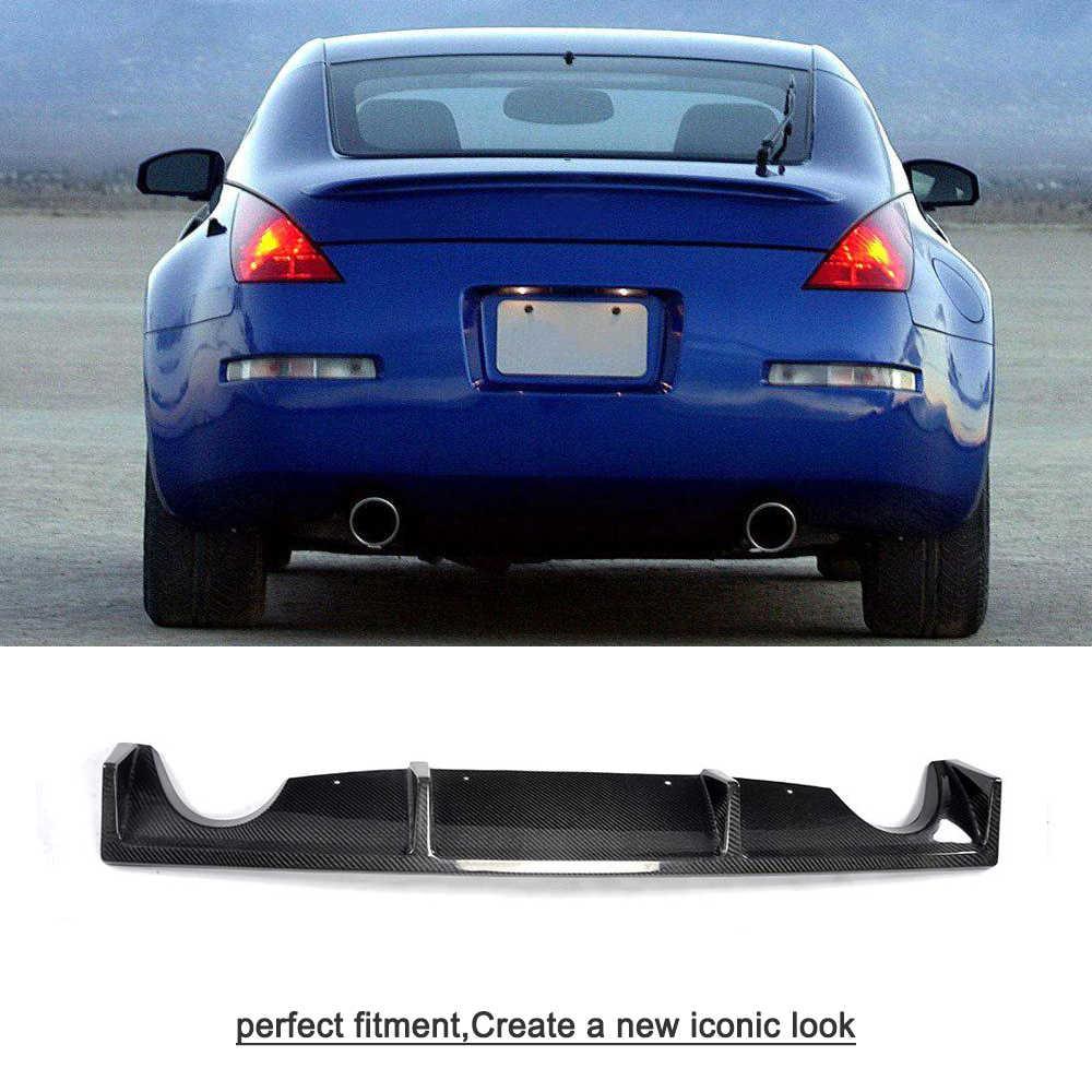 Carbon Fiber Car Rear Per Lip Diffuser For Nissan 350z Coupe And Convertible 2 Door 2003