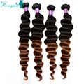 Two Tone 1B/30 Ombre Hair Extensions 6A Malaysian Virgin Hair Loose Wave 4Pcs/Lot Ombre Human Hair Weave Malaysian Loose Wave