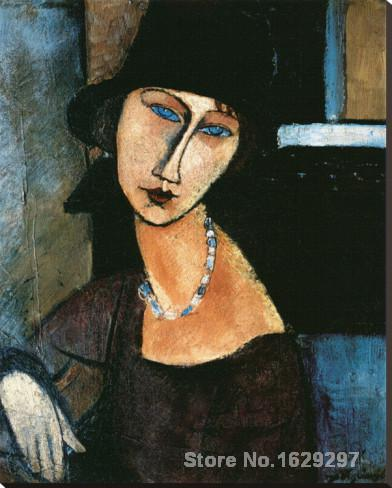 Jeanne Hebuterne by Amedeo Modigliani paintings For sale Home Decor Hand painted High qualityJeanne Hebuterne by Amedeo Modigliani paintings For sale Home Decor Hand painted High quality